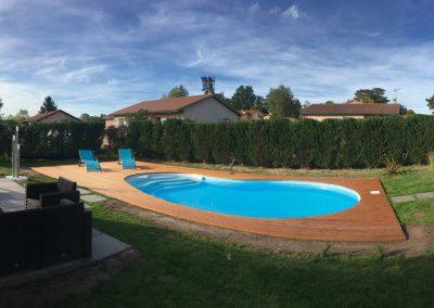 Aménagement paysagers et piscine Waterair sur Balbigny