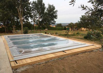 Construction d'une piscine Waterair + Installation d'une bâche été-hiver sur Saint-Pierre de Boeuf