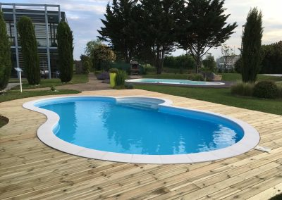 Rénovation piscine Waterair et terrasse bois - Parc Expo Piscines Waterair a Genas