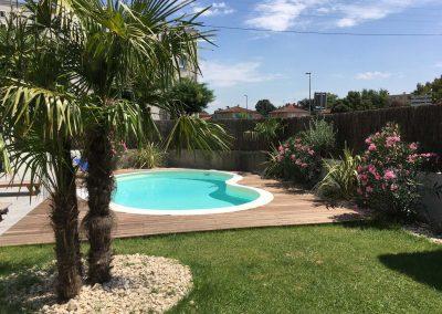 N1 - Aménagement paysagers et piscine Waterair sur Bron fin des travaux
