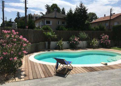 N10 - Aménagement paysagers et piscine Waterair sur Bron fin des travaux